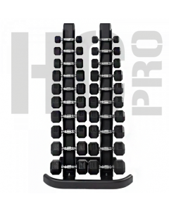 HEX DUMBELLS1-10KG WITH Multifunctional rack - FREE SHIPPING, DELIVERY 4 DAYS