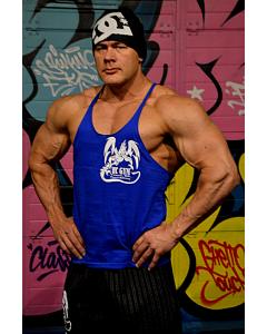 HC GYM Tank Top, blue, Spordiriided, T-särgid meestele, HC GYM spordivarustus
