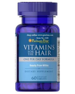 PURITAN'S PRIDE Vitamins for the Hair, vitamiinid juustele 60tbl, TOIDULISANDID, Vitamiinid ja mineraalid